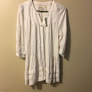 NWT XSP holding Horse by Anthro button down tunic